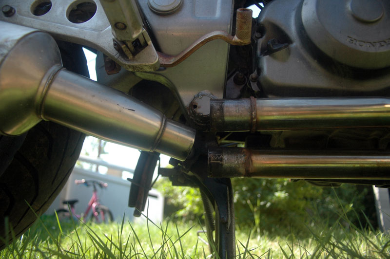 NTV - Adaptation Echappement Ducati/Austin ... Pot-test-05