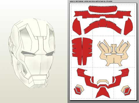 Iron Man Helmet Outline