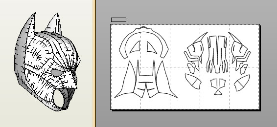Diy armored batman helmet using cardboard: 3 steps.