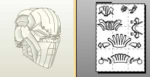 New deathstroke mask for Deathstroke armor template