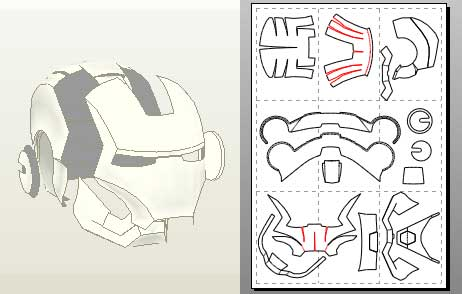 Ironman Helmet Drawing Sharkhead7854-ironman-helmet