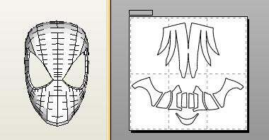 Spiderman Face Shell Pepakura File Foam Version By