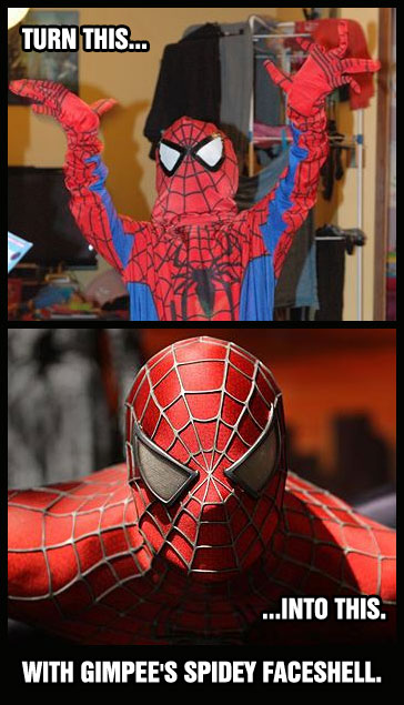 spiderman face shell pepakura file   foam version by jfcustom   pdf added
